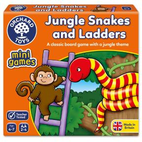 Orchard Toys Jungle Snakes & Ladders Mini Game