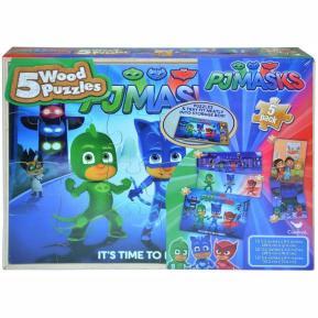 PJ Masks 5 ξύλινα puzzle