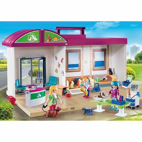 Playmobil Κτηνιατρική Κλινική-Βαλιτσάκι (70146) & Λαμπάδα-1