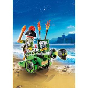 Playmobil Πράσινο Κανόνι με Καπετάνιο Πειρατή 6162