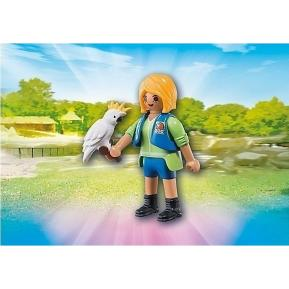 Playmobil Εκπαιδεύτρια Ζώων με Παπαγάλο