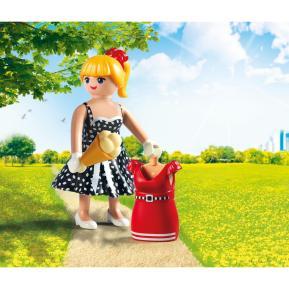 Playmobil Fashion Girl με ρετρό φόρεμα
