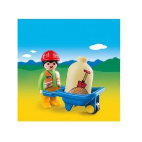 Playmobil Εργάτης με Καροτσάκι