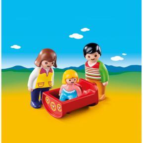 Playmobil Γονείς με Μωρό και Κούνια
