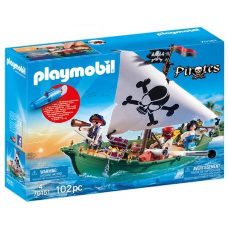 Playmobil Πειρατικό Πλοιάριο με Υποβρύχιο Μοτέρ (70151)-0