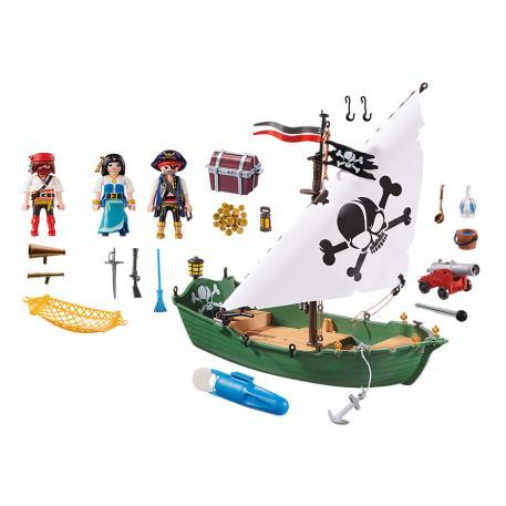 Playmobil Πειρατικό Πλοιάριο με Υποβρύχιο Μοτέρ (70151)-3