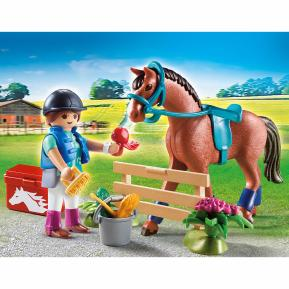 """Playmobil Gift Set """"Φροντίζοντας το άλογο"""""""