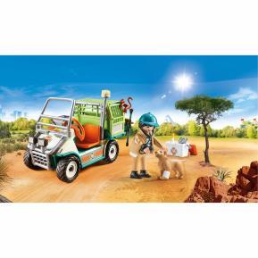 Playmobil Κτηνίατρος με όχημα Ζωολογικού Κήπου 70346