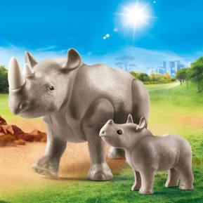 Playmobil Ρινόκερος με το μικρό του