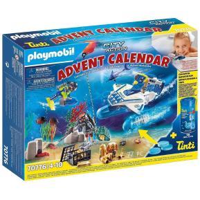 Playmobil Χριστουγεννιάτικο Ημερολόγιο - Παιχνίδι στην μπανιέρα με αστυνόμους 70776