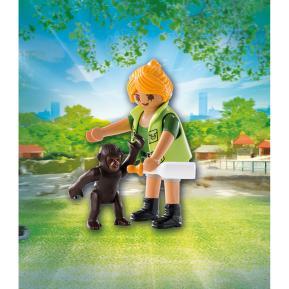 Playmobil Εκπαιδεύτρια ζώων με μικρό γορίλλα