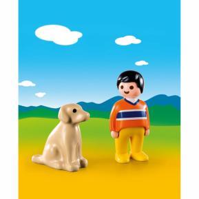 Playmobil 1 2 3 Αγόρι με σκυλάκι