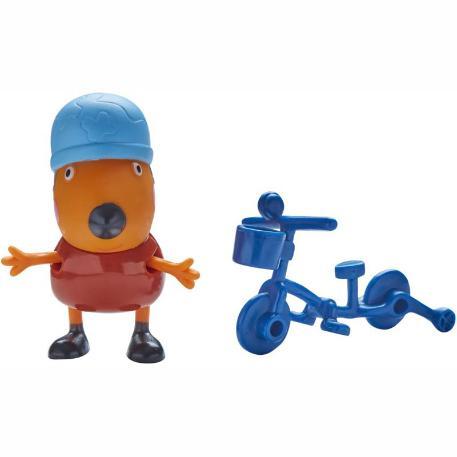 Peppa Pig Φιγούρα με αξεσουάρ μπλε ποδήλατο-0