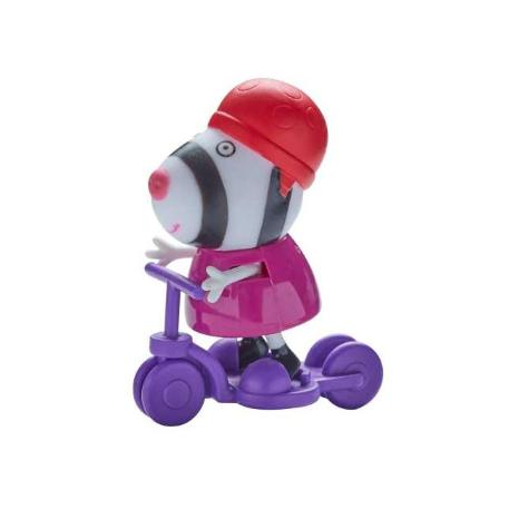 Peppa Pig Φιγούρα με Αξεσουάρ μωβ ποδήλατο-0