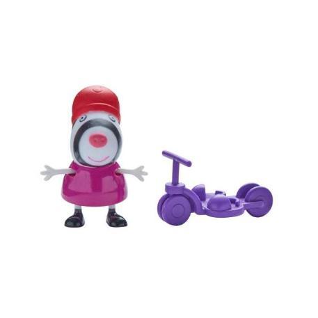 Peppa Pig Φιγούρα με Αξεσουάρ μωβ ποδήλατο-1