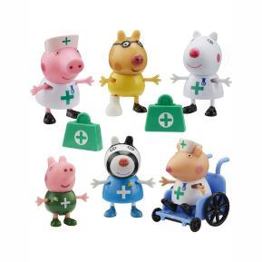 Giochi Preziosi Peppa Pig Σετ Φιγούρων 6 cm Γιατροί & Νοσοκόμες PPC95000