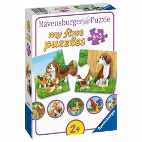 Ravensburger Τα Πρώτα μου Παζλ 9x2τμχ. Ζώα της Φάρμας 05072