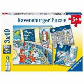Ravensburger Παζλ 3x49 τμχ. Διάστημα 05088