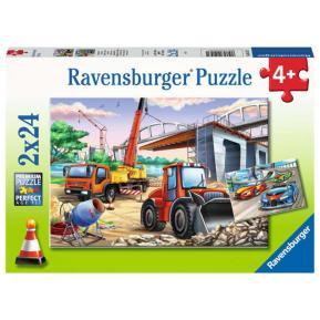 Ravensburger Παζλ 2x24 τεμ. Εργοτάξιο