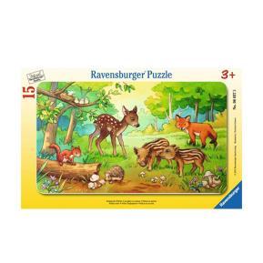 Ravensburger Παζλ Κορνίζα Ζωάκια του Δάσους 15 τμχ