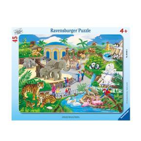 Ravensburger Παζλ Κορνίζα Ζωολογικός Κήπος 45 τμχ