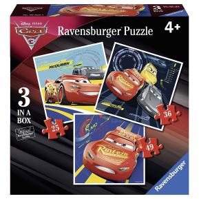 Ravensburger Παζλ 3 Σε 1 Cars