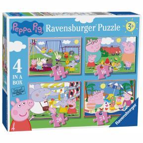 Ravensburger Παζλ 4 σε 1  Peppa Pig 06958