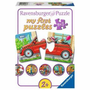 Ravensburger Τα πρώτα μου Παζλ 9x2τεμ Οχήματα