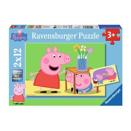 Ravensburger Παζλ Peppa Pig Αδελφική Αγάπη 2x12 τμχ-0