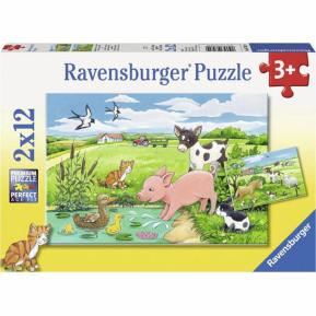 Ravensburger Παζλ 2x12 τμχ Ζωάκια στο Αγρόκτημα