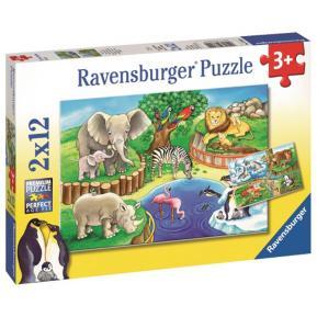 Ravensburger Παζλ 2x12 τμχ Ζωολογικός Κήπος