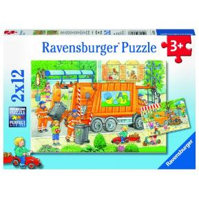 Ravensburger Παζλ 2x12 τμχ Απορριμματοφόρο