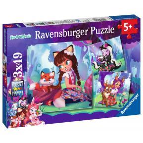 Ravensburger Παζλ 3x49 τμχ Enchantimals (08061)