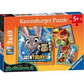 Ravensburger Παζλ 3x49 τμχ Zootopia