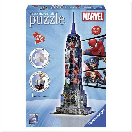 Ravensburger 3D Puzzle Empire State Building Avenger 216 τμχ-0