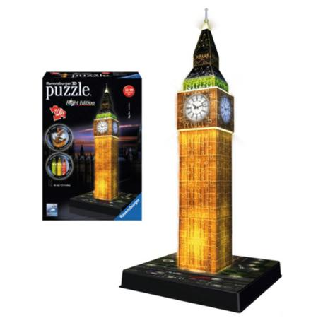 Ravensburger Πάζλ 3D Big Ben Night Edition 216τεμ.-0