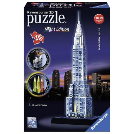Ravensburger Πάζλ 3D Chrysler Building Night Edition-0