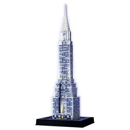 Ravensburger Πάζλ 3D Chrysler Building Night Edition-1