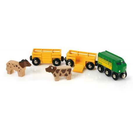 Brio World Τρένο με Ζώα (33404)
