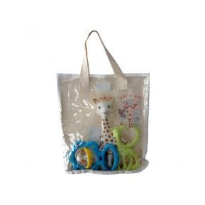 Cotton Gift Bag Sophie La Girafe (γαλάζιο - πράσινο) S516343