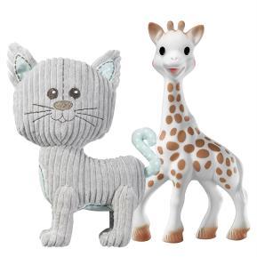 Sophie La Girafe Σετ Σόφι και Λάζαρο τη Γάτα