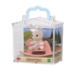 Sylvanian Families: Baby Carry Case - Κουνελάκι σε Κουνιστό Αλογάκι (4391r1)