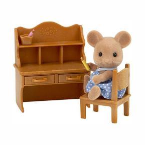 Sylvanian Families: Κορίτσι Mouse με Σετ Γραφείου (5142)