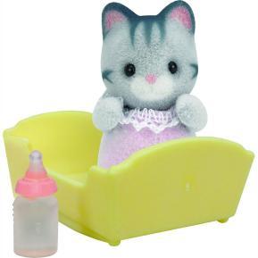 Sylvanian Families: Gray Cat Baby (3552)