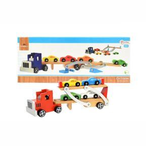Ξύλινο όχημα μεταφοράς αυτοκινήτων - Wooden car transporter (82503Z)