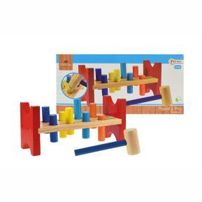 Ξύλινο εκπαιδευτικό παιχνίδι Wooden pound a peg (82507A)