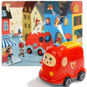 Top Bright Wooden Puzzles in Fire Truck (130907)