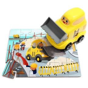 Top Bright Wooden Puzzles in Bulldozer (130910)