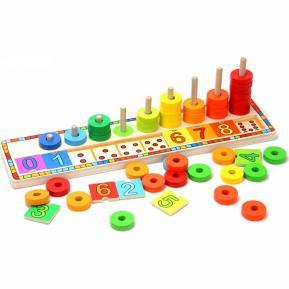 Top Bright Ξύλινο Παιχνίδι 'Μαθαίνω Χρώματα & Αριθμούς' (6540)