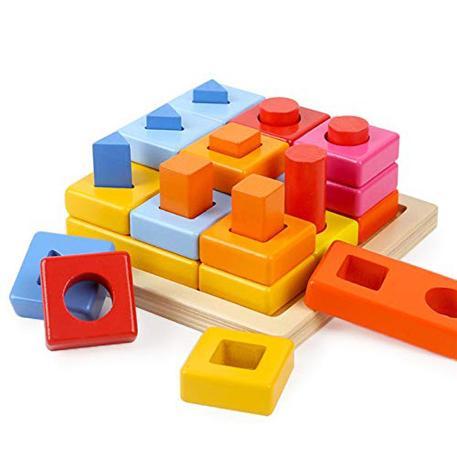 Top Bright Shape Blocks Stacking (8558)-0